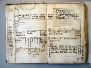 Johan Bures släktbok i autograf (1613), fol. 140v (s. 69); s. 141[framsida av inlaga].